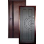 Входная дверь ГОРОД МАСТЕРОВ Ангара 850*2050 правая антик медь, венге ребро (пвх)