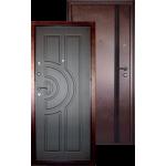 Входная дверь ГОРОД МАСТЕРОВ Ангара 850*2050 левая антик медь, венге ребро (пвх)