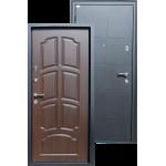 Входная дверь ГОРОД МАСТЕРОВ Обь 850*2050 левая металлик черный, венге ребро (пвх)