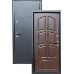 Входная дверь ГОРОД МАСТЕРОВ Обь 850*2050 правая металлик черный, венге ребро (пвх)