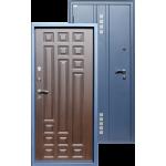 Входная дверь ГОРОД МАСТЕРОВ Тура 960*2050 левая металлик(sahara blue) вн.мдф 16мм Венге ребро,(пвх) 2з/хром