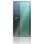 Входная дверь ГОРОД МАСТЕРОВ Уссури 850*2050 левая металлик(sahara green) вн.мдф 16мм Дуб выбелен,(пвх) 2з/хром