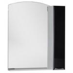 Зеркало AQUANET АСТИ 75 белый/фасад черный без светильника 180078