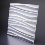 Гипсовая панель ARTPOLE SILK (White) 3D D-0002-3WH 60x60 дабл-панель