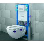 Инсталляция GEBERIT DUOFIX UP320 для унитазов с подключением для системы удаления запаха 111.370.00.00.5