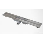 Желоб ALCA PLAST APZ106-750 водоотводящий, с порогами, для цельной решетки, с горизонтальным стоком