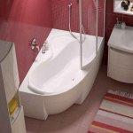 Экран для ванны RAVAK Rosa 95 160 см белая правая
