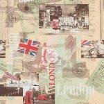 Обои бумажные МОФ 221202-3 Лондон 0.53x10м