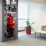 Фотообои MODA INTERIO 1-051 Красный скутер 90x270 см