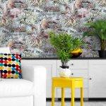 Обои виниловые EURODECOR 7096-22 Street Art 1,06*10 м на флизелиновой основе